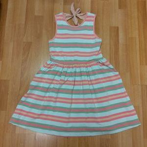 Girls Matilda Jane Striped Sleeveless Dress, Sz 14